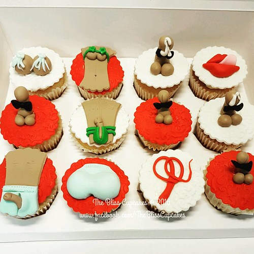 Naughty Hen's Night Cupcakes  Extra Naughty  Thank you Sangita for the order  I sure did enjoy making these naughty cupcakes 😉  Feeling Naughty?? Do call us at 0126460023 to place your order.. * NO FIXED Pricing: Our cakes are priced on size (not wei