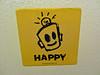 Happy, Augusta, GA (Robby Virus) Tags: augusta georgia happy sticker slap robot leonard zimmerman jr junior porkchop