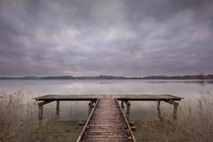 Melancholy (pixadeleon) Tags: fischersteg pfã¤ffikersee pfã¤ffikon see himmel wolken steg holz herbst lake sky clouds pier autumn wood challengegamewinner