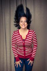 Shannon - hair flip (rskura) Tags: shannon strobist justpentax cute girl hair hairflip einstein fun interesting sweater jeans pentax645z pentaxfa6454585mmf45 cybercommander paulcbuff lighting