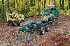 Sauvola Lumber Company (view2share) Tags: october132016 october october2016 2016 fall fallcolor autumn woods wood work northwoods northwood camp skidsteer machine saw mill sawmill sawmilling forest deansauvola upperpeninsula uppermichigan michigan mi woodlandmills hm130 bandsaw bandmill portablesawmill log logs lumber ford cl340 loader skidloader leaves leaf timber