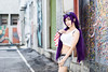 Toujou Nozomi (bdrc) Tags: asdgraphy toujou nozomi doujin version lovelive idol cosplay girl portrait outdoor street back alley shah alam selangor shelly wall art bleach bypass natural light nikkor 50mm f14d prime manual sony a6000