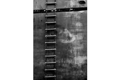 escaleras (danielviera1) Tags: monochrome blancoynegro blackandwhite navy boat barco byn bnw escalera estarways container heavy gra port puerto muelle muelledelaluz grancanaria sea mar ocean ocano atlantic atlntico yellow colorsplash abandoned worker canon sigma canonphotography