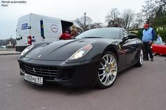 Ferrari 599 GTB Fiorano (Monde-Auto Passion Photos) Tags: auto automobile ferrari 599 gtb fiorano coup noir france rally paris evenement supercar sportive