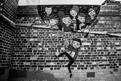 Brick kids (Richard Mart1n) Tags: art abstract graffiti travel perth australia monochrome black white nikon d5000
