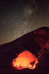 Jordan-060 (mike_p_uk) Tags: 2016 jordan stars wadirum fire campfire desert rock rockface milkyway camping