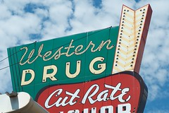 Western Drug (dangr.dave) Tags: odessa tx texas downtown historic architecture ectorcounty westerndrug cutrate liquor neon neonsign
