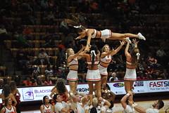 VIRGINIA TECH CHEERLEADERS (SneakinDeacon) Tags: acc vt vatech hokies cassellcoliseum cheerleaders bigsouth basketball panthers highpoint