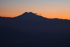 View of Mount Elbrus in the evening (Sergey Kustov) Tags: dusk sunset mashuk elbrus beshtau mountain ridge caucasus panorama view pyatigorsk russia