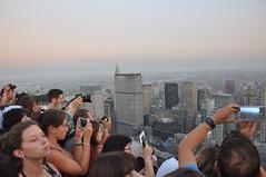 Rush hour up there (Explore) (As minhas andanas) Tags: topoftherock rockefellercenter newyork sunset
