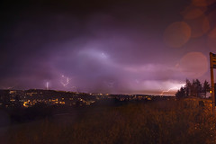 5 Lightning Strikes In 1 (Ashey1209) Tags: lightning folk storm weather nature mother clouds rain landscape norland westyorkshire halifax calderdale merged strike strikes flash light night