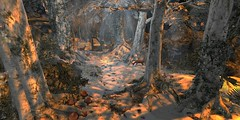 magical clearing (flubs) Tags: nature surreal dreamy landscape flickr firestorm sl secondlife slphotography sunrise winter snow