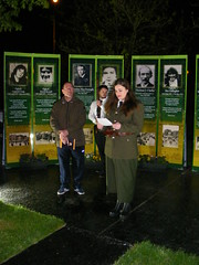 Irish Republican Easter Rising Centenary Commemoration Shantallow Derry - Dawn 12th May 2016 (seanfderry-studenna) Tags: provisional sinn fein irish republican army ira sf 100th anniversary commemoration easter rising dawn vigil james connolly execution shantallow derry doire londonderry pira uniform people persons remembrance outdoor outside dark early morning monument political cultural historical reenactment decade centenaries centenary 2016 12th may northern ireland eire ulster eireannweapons decommissioned antique rifles speeches song reflection