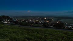 Herbstlicher Blick von Breiten über Rüthi 006 (bertheeb) Tags: mondaufgang landschaft vollmond