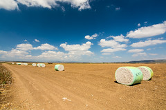 The end of the cotton season (Yovel Rodoy) Tags: cotton bales agriculture scenery landscape nature agri farm farming farminglife worldwide ultrawid ultrawide wideopen outside outdoor beauti beautiful nikon d7100 john johndeere tractor picking harvest tokina 1116 11mm