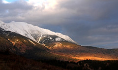 A break in the clouds (windyhill623) Tags: mountain cloud skyscape sunset sunlight afternoon eveninglight evening beautifullight outdoor landscape snow hughesrange rockymountains britishcolumbia wow greenscene cloudsstormssunsetssunrises