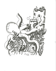 Octopus/Succulents (CAROLINE ) Tags: octopus succulents underthesea animal dippen penandink drawing art doodle blackandwhite pen artwork