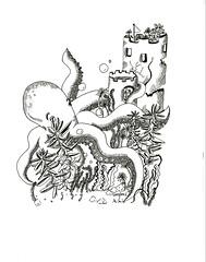 Octopus/Succulents (CAROLINE 黎想) Tags: octopus succulents underthesea animal dippen penandink drawing art doodle blackandwhite pen artwork