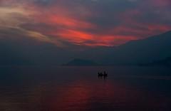 Sunset  Bellagio  docks, Lake Como Italy (A  Train) Tags: silhouette nikon nikond750 italy lake lakecomo lakecomoitaly boat sunset bluehour bellagio shadows