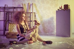 Doll House (Marty085) Tags: dollhouse doll portrait artistic people vintage colors neoncolors cute fantasy childhood lovely