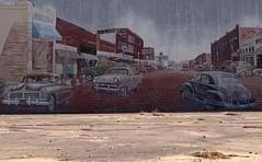 Mural (Photographs By Wade) Tags: cushing oklahoma mural nostalgicmural townscene emptyspace