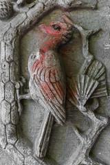 Woodpecker (michael_hamburg69) Tags: detail tiere eingang natur relief urbanexploration juli brandenburg tr fassade urbex tuberculosis abandonedplace offthemap 2015 lostplace tuberkulose beelitz potsdammittelmark heilsttten lungenheilsttte bauschmuck 18981930 go2knowfototour
