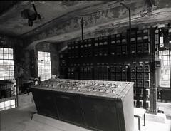 Abolished substation (threepinner) Tags: mamiya 50mm ruin 北海道 日本 universal coal press tmax100 f63 selfdeveloped 三笠 sekor tmaxdeveloper 変電所 幌内 北日本 北炭
