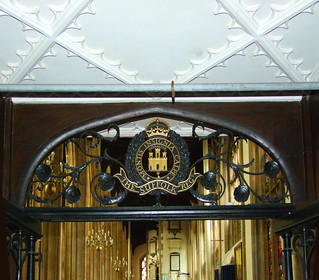 ironwork and ceilure by Ninian Comper, 1935