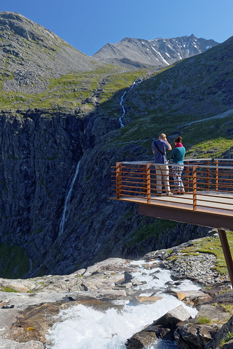 Trollstigen Visitor Terrace Along the Stigfossen Waterfall