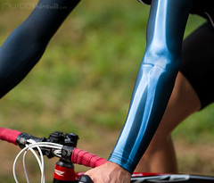 cycling wear (LAZUR tomek pietek) Tags: red italy fashion closeup bar cycling italian ray cyclist hand close arm zoom poland surface x tape fabric xray bubble bones bone handlebar warmers armwarmers fibula grippy cinelli