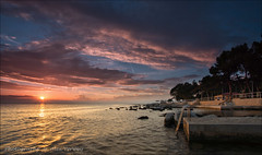 Porec in the evening ... (Alex Verweij) Tags: sea cloud sun color nature water colors beautiful clouds swim canon evening nightshot wolken croatia zee 5d avond timer zon couleur porec kroatie wolk kleur kleuren zwemmen 17mm avondrood istrie alexverweij