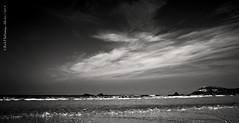 Constantine Beach Cornwall (rhfo2o - rick hathaway photography) Tags: sea sky blackandwhite bw sun holiday beach clouds canon mono seaside cornwall waves constantinebay canoneos50d rhfo2o