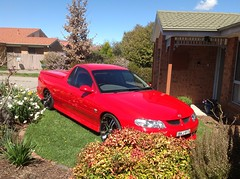 The little old lady next door has a son with a hot ute (spelio) Tags: australia 2015 email travel act ipad holden v6 zoom ecotune australiancapitalterritory fave