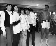 The Beatles and Muhammad Ali (Historystack) Tags: unitedstates beatles johnlennon ringostarr paulmccartney georgeharrison muhammadali rarephotos