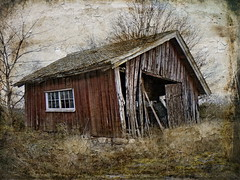 The residue from the past. (Bessula) Tags: old texture rural landscape sweden country shed creation thatch dilapidation lumberroom bessula coth5