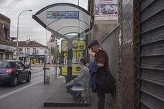 . (Le Cercle Rouge) Tags: france streets bus stop humans romainville