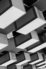 Formas (Leandro C Rodrigues) Tags: blackandwhite bw white black monochrome lines linhas shadows squares geometry perspective shapes perspectiva formas sombras geometria quadrados