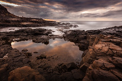 El Confital, Army Zone (PEDRO BENITEZ PHOTOGRAPHY) Tags: ocean las sunset sea sky costa sun seascape beach water clouds army islands coast mar spain rocks long exposure waves playa canarias cielo waters gran canary islas canaria territorial palmas confital