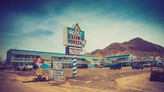 Clown Motel, Nevada (Wayne Stadler Photography) Tags: travel rural weird exploring clown nevada motel roadtrip haunted creepy american roadside clowns tonopah truippy