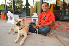 Chilling in the Plaza District (radargeek) Tags: dog dayofthedead event okc oklahomacity plazadistrict
