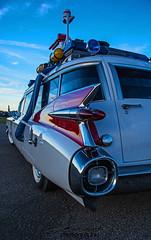 Ecto-1 (scott597) Tags: sunset ohio white fall museum movie force air ambulance replica duplex patterson wright base wpafb ghostbusters dayton futura 1959 millermeteor ecto1