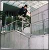 Khai Amrien_Ollie over Rail (taufekasmarak) Tags: skateboarding bronica skateboards sq thieves 120mm bronicasq provia400x