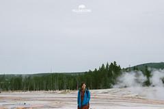 Yellowstone NP (L.F.Lee) Tags: travel portrait nationalpark pentax roadtrip yellowstonenationalpark yellowstone wyoming geyser