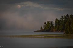 Mist on the water (chestnutcanoe) Tags: autumn mist water lakes northwesternontario agimaklake