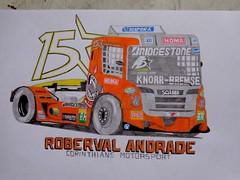 Roberval Andrade's Scania, Frmula Truck 2015 (EduardoCBS) Tags: brasil truck drawing racing formula frmula corrida desenho scania motorsport caminho corinthians andrade 2015 roberval