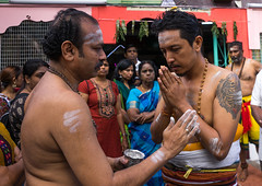 Hindu Devotee Praying In Annual Thaipusam Religious Festival In Batu Caves, Southeast Asia, Kuala Lumpur, Malaysia (Eric Lafforgue) Tags: pierced people festival horizontal tattoo religious outdoors worship asia southeastasia day indian traditional faith religion ceremony culture piercing parade blessing celebration event malaysia devotion pierce ritual kualalumpur spirituality spiritual devotee endurance hindu hinduism malaysian celebrate groupofpeople cultures pilgrimage batu thaipusam hindi selangor decorated placeofworship penance traveldestinations kl261