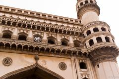 Close up of the Charminar 1st level (ashish.gudla) Tags: india monument historic hyderabad oldcity charminar nizam
