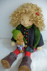 "LUCY  20"" doll (Dearlittledoll) Tags: waldorf waldorfdoll waldorfdoll20inch waldorfclothing dearlittledoll organicdoll puppet"