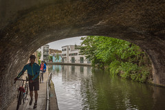 towpath (stevefge) Tags: camden camdenlock london regentscanal canals people men water towpath cycling cycles bicycles reflections bridges arch candid reflectyourworld