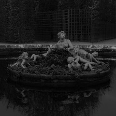 Versailles (Rurikandco) Tags: versailles bw nb bassin fontaine chateaudeversailles hiver